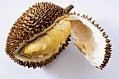 Opened durian fruit