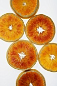 Slices of blood orange, variety 'Tarocco'