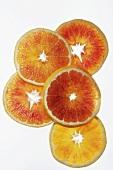 Slices of blood orange, variety 'Tarocco'