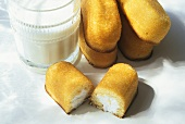 Twinkies with a Glass of Milk