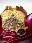 A piece of poppy seed cake