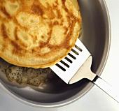 Frying a pancake