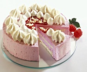 Raspberry gateau