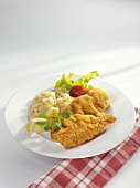 Wiener Schnitzel (veal escalope) with potato salad