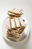Grilled white bread