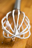 A whisk, used