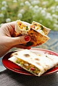 Quesadillas with sweetcorn filling