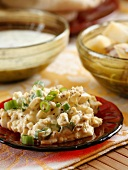 Egg salad with spring onions