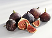 Figs, whole and cut open