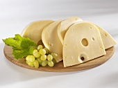 Swiss cheese with grapes