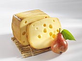 Smoked Swiss cheese with pear
