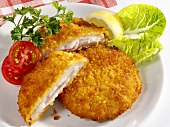 Cordon bleu (stuffed breaded escalope)