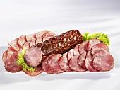 Krakauer sausage, sliced