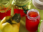 Three jars of quince jelly