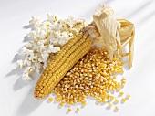 Popcorn and corn on the cob