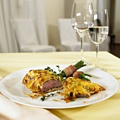 Loin of lamb with potato crust
