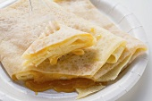 Crêpes with apricot jam