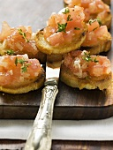 Bruschetta with thyme