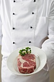 Beef steak with parsley