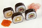 Sushi with sauerkraut