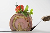 Meat roulade with vegetable and herb stuffing