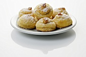Biscuits with icing sugar on a plate