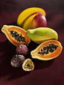 Mango, papaya and passion fruit