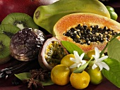 Exotic fruit with vanilla and star anise