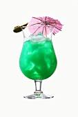 Green cocktail with Blue Curacao