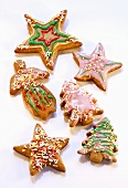 Decorated gingerbread biscuits