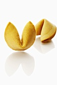 Two Chinese fortune cookies