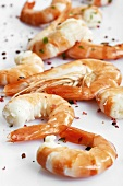Fresh shrimp tails