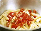 Penne with diced tomatoes