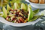 Bean salad with avocado