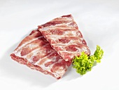 Raw spare ribs