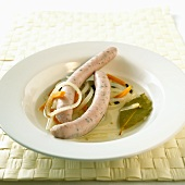 Saure Zipfel (Nuremberg sausages cooked in vinegar)