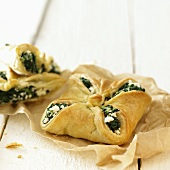 Spinach and feta parcels