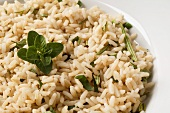 Rice with sage, rosemary and oregano