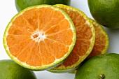 Sliced tangerine
