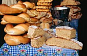 Various types of Italian bread