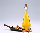 A bottle of groundnut oil