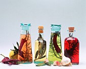Various flavoured oils