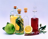 Assorted types of vinegar