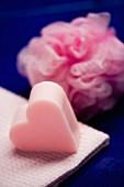 Heart-shaped bar of soap
