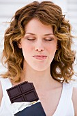 Woman enjoying chocolate