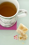 Mug of tea and Turkish Delight