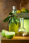 Olive oil and limes