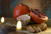 Pomegranates, fig and dates