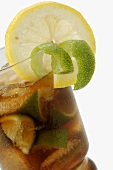 Cuba Libre with lime and lemon