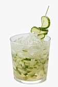 Munich Mule (Drink made with vodka, ginger ale & cucumber)